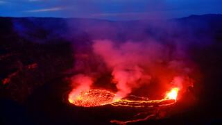 Volcanic eruption in the Democratic Republic of Congo